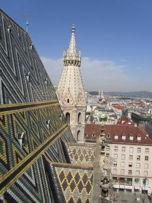 הנוף הפנורמי של וינה הנשקף מגג הקתדרלה