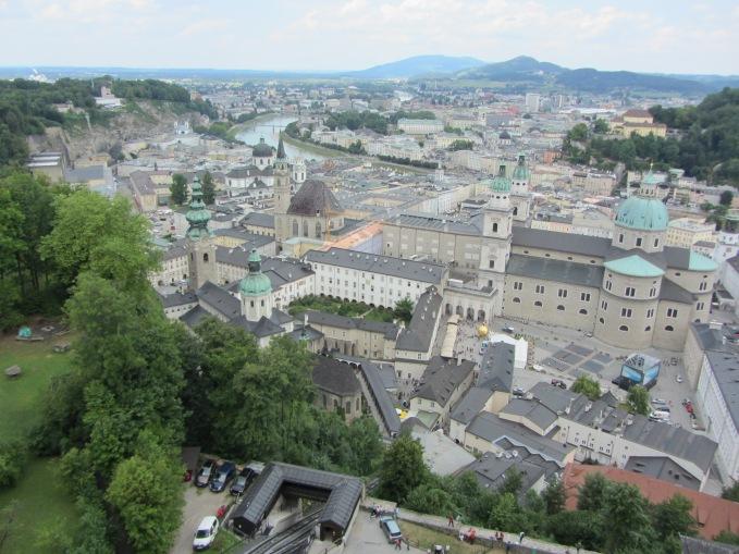הנוף הנשקף מטירת זלצבורג