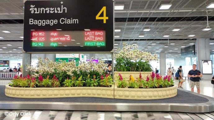 סחלבים בשדה התעופה בבנגקוק